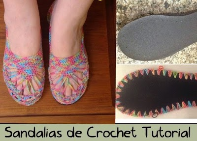 Sandalias de rejillas en crochet tutorial