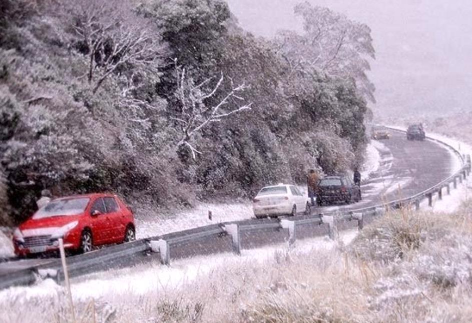 Neve na Serra do Rio do Rastro - Santa Catarina
