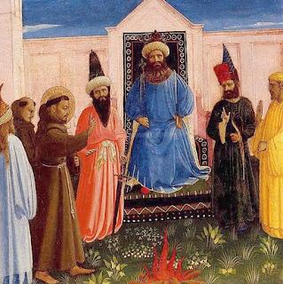 La audiencia del sultán Malik al santo