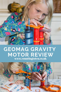 Geomag Gravity Motor Review: STEM toy for Tweens
