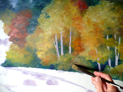 Painting the autumn foliage