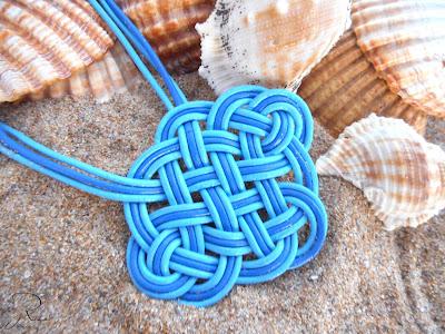 collar nudo celta azul