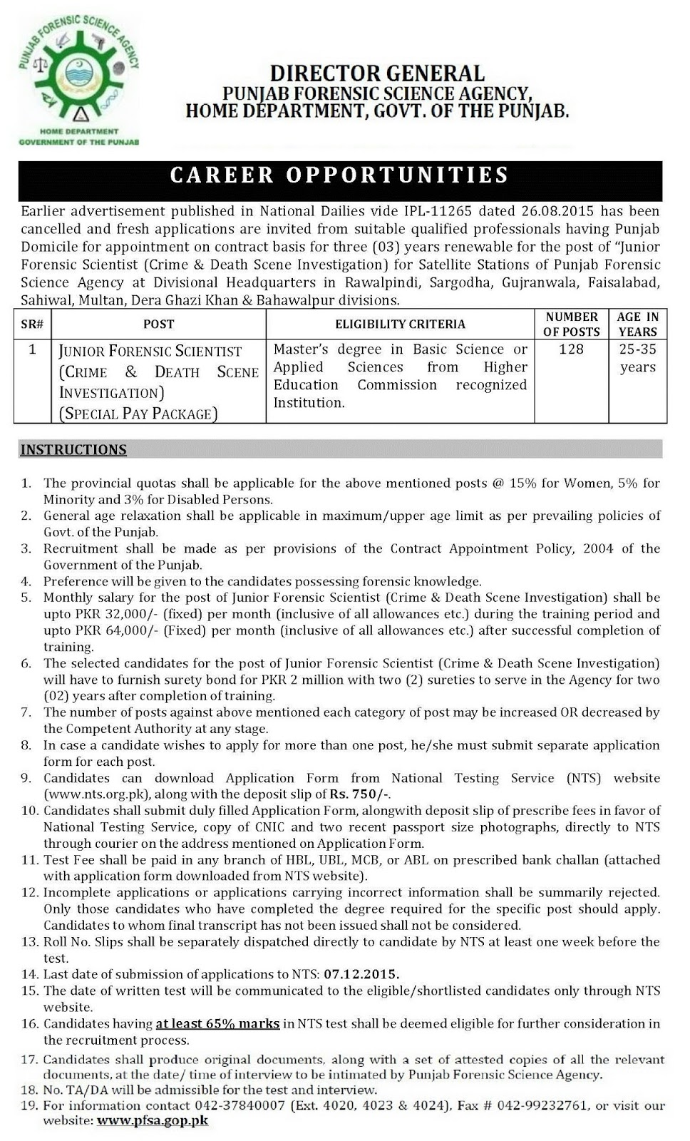128 Jobs for Masters in Basic / Applied Sciences in Punjab