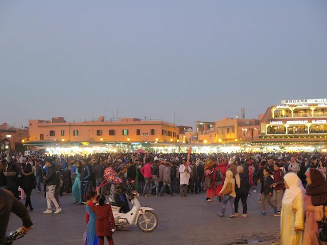 Plaza de la Jemaa el Fna en Marrakech