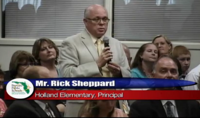 Ricky Shepard, Principal at Spessard Holland Elementary School in Satellite Beach