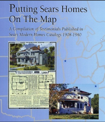 blue cover of book called Putting Sears Homes On the Map by Rebecca L Hunter