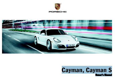 Porsche Cayman, Cayman S Owners Manual
