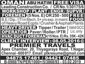 Abu Hatim Oman jobs