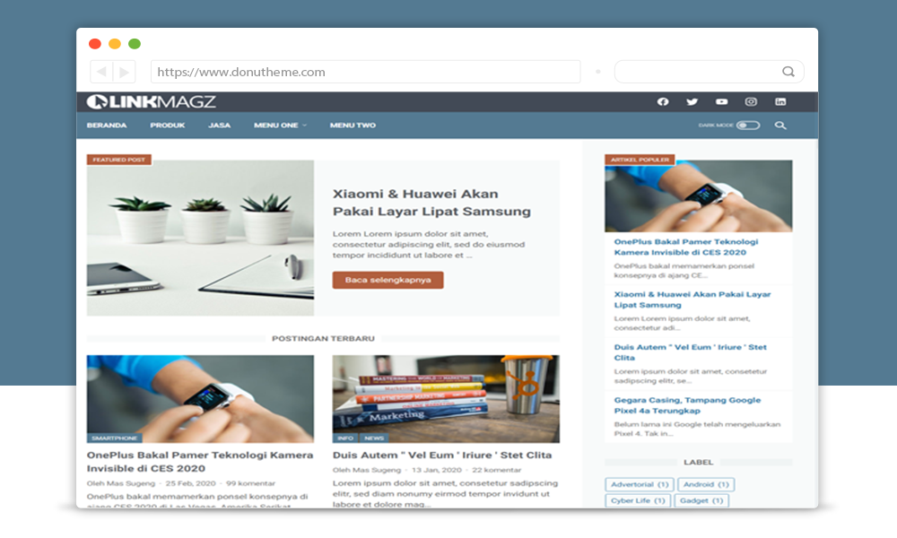 LinkMagz Responsive Blogger Template