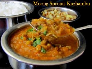 Moong sprouts Kuzhambu