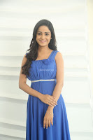 Divya Nandini stunning Beauty in blue Dress at Trendz Exhibition Launch ~  Celebrities Galleries 053.JPG