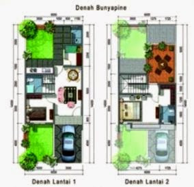 denah rumah minimalis modern 2 lantai | design rumah minimalis
