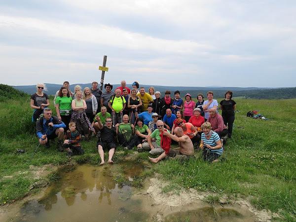 Część naszej grupy na Wahalowskim Wierchu.