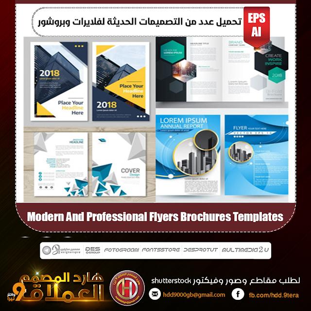 تحميل عدد من التصميمات الحديثة لفلايرات وبروشور Modern And Professional Flyers Brochures Templates