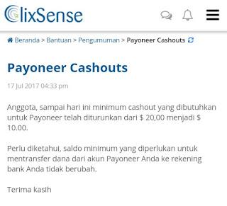 payout menggunakan Payoneer