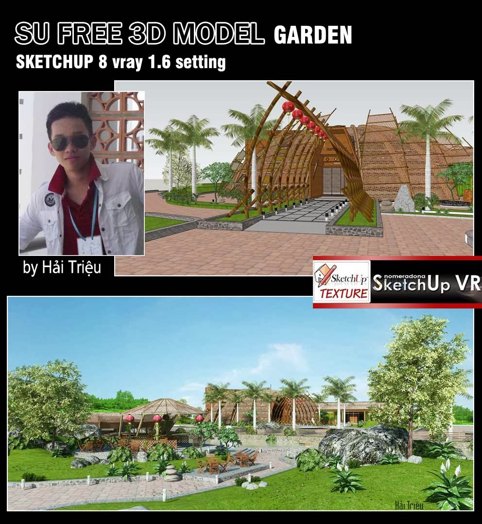 Architect 3d Garden And Exterior 20: SKETCHUP TEXTURE: SKETCHUP 3D MODEL VEGETATION