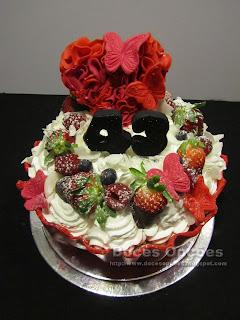 Cupcake gigante para aniversário da casamento