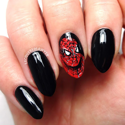 Spidey Senses Nail Art
