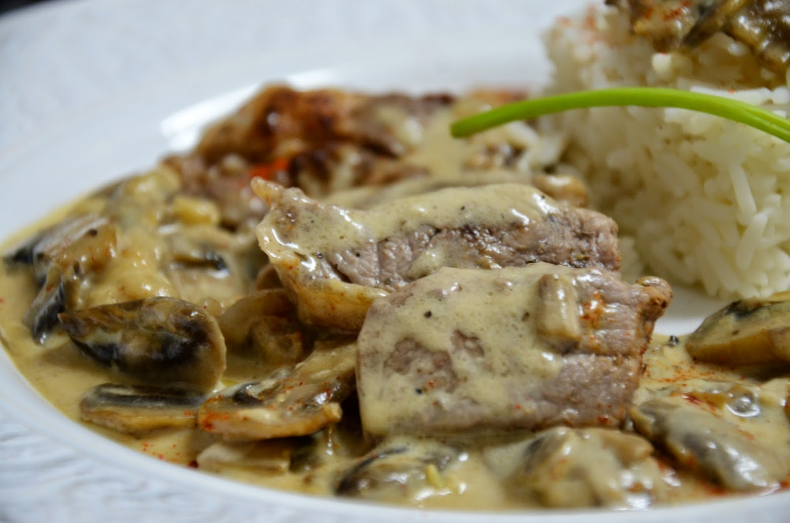 La cocina de puri pastor entrecot de ternera al strogonoff - Como cocinar un entrecot ...