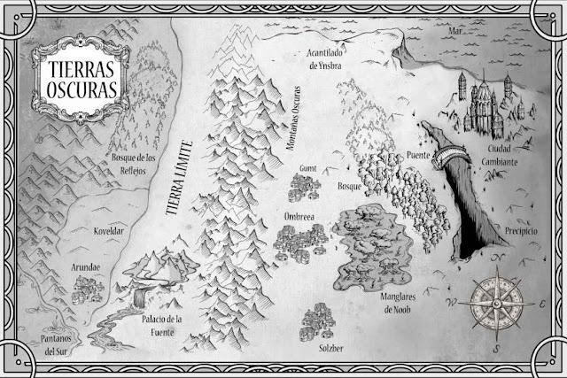 Mapa de las Tierras Oscuras, de la novela de Ana González Duque - Cine de Escritor