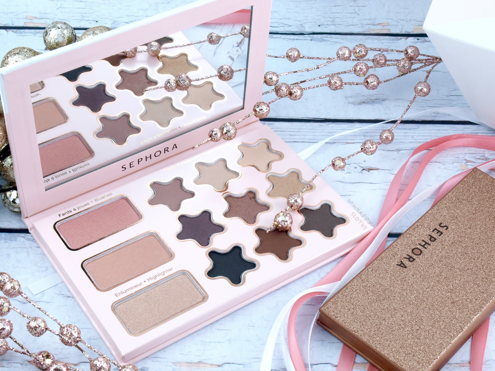 Sephora Collection Holiday 2017 Wonderful Stars Eye & Cheek Palette Review and Swatches
