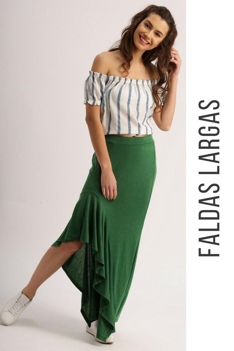 d95b11c16 56 Faldas Largas ¡Inspiración e Ideas Originales! | Faldas | Moda ...