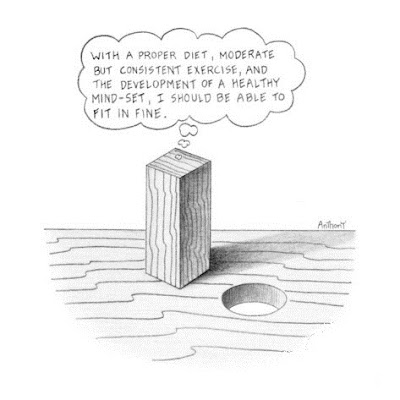 Codependency is like a square peg in a round hole. It blames victims.