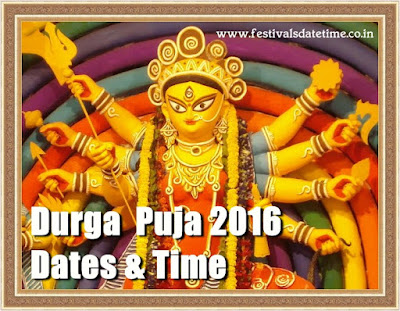 Durga Puja Festivals 2016 Date & Time in India