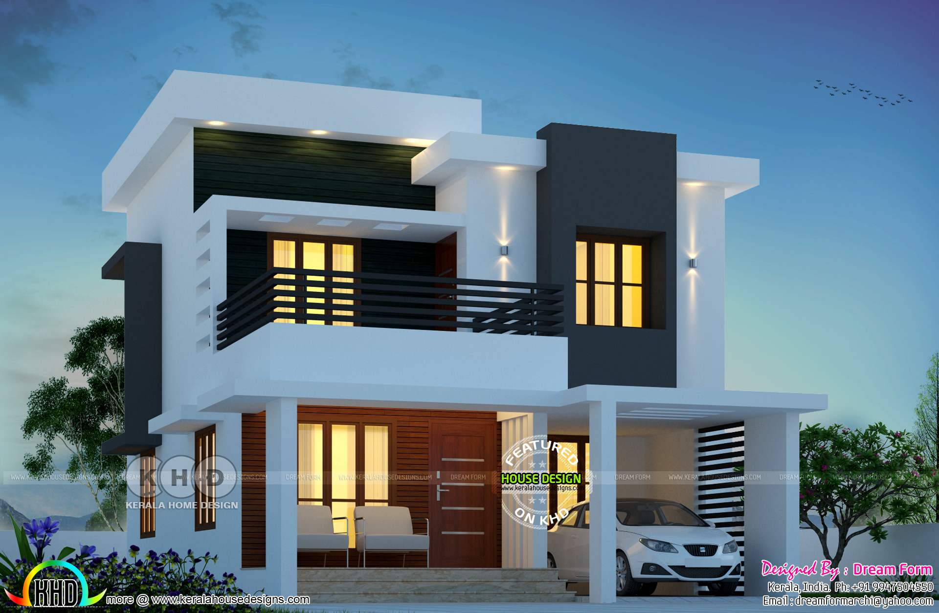 1650 Square Feet 3 Bedroom Cute Home Double Storied Kerala Home Design And Floor Plans 8000 Houses