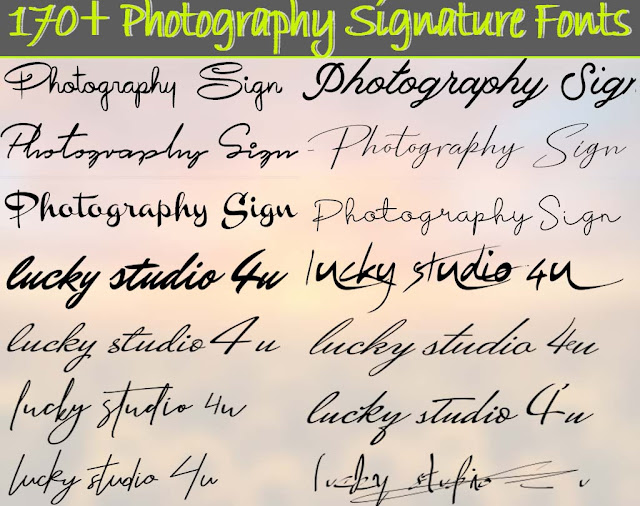 170+ Photography Signature Fonts