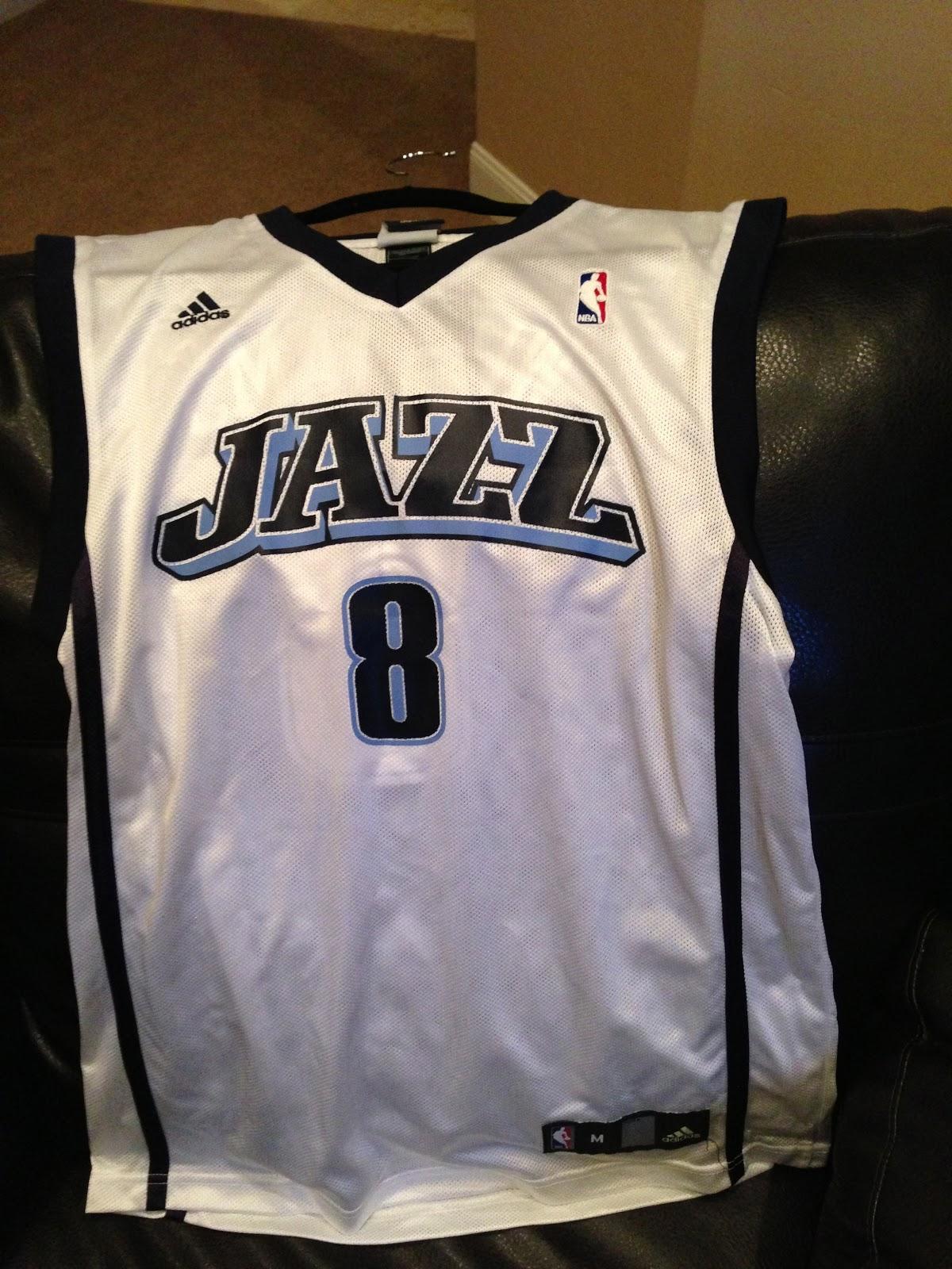 brand new 5ef73 7d85a Team Jack Rapp: Auction Item - Signed Jazz Jersey #8 Deron ...