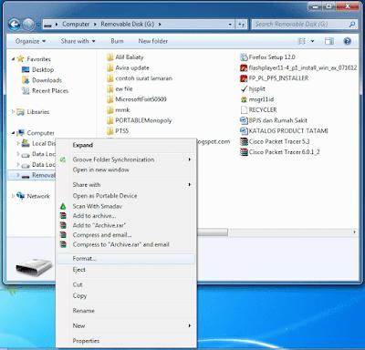 Format Flashdisk melalui Windows Explorer - Computer
