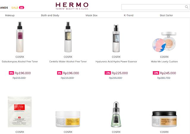 hermo bagi bagi voucher belanja kosmetik korea gratis