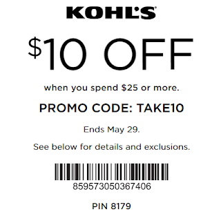Kohls Yes pass coupon $10 off $25+ order