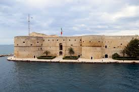The Castello Aragonese in Taranto stands guard over the entrance to the port's harbour