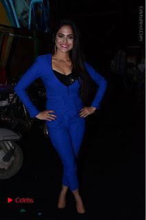 Actress Naina Ganguly Stills in Blue Dress at RGV Shiva to Vangaveeti Event  0062.JPG