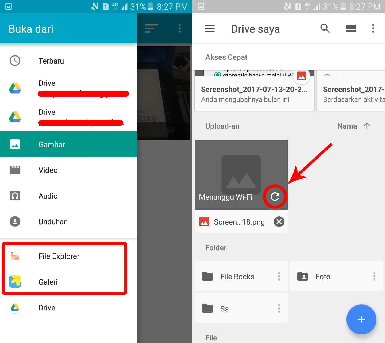 Cara Upload File Di Google Drive Via Aplikasi Android Belajar Bisnis Online