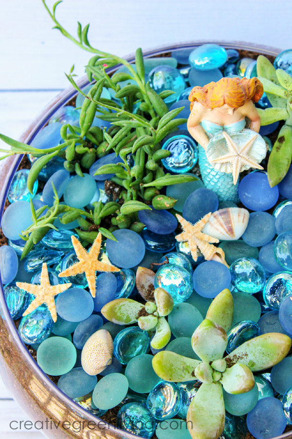 Best mermaid craft ideas - How to make a mermaid garden inspired by the fairy garden trend