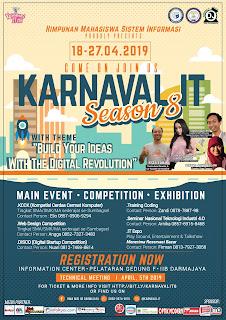 "HIMSI DARMAJAYA Akan Selenggarakan ""Karnaval IT Season 8"""