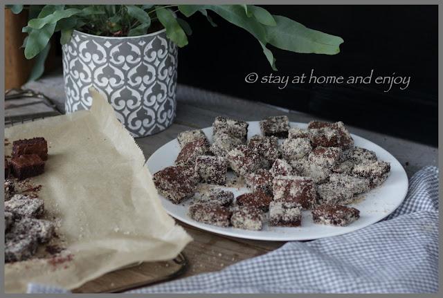Brownie-Konfekt - stay at home and enjoy