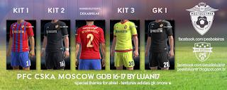 PFC CSKA Moscow Adidas kit 2016-17 Pes 2013