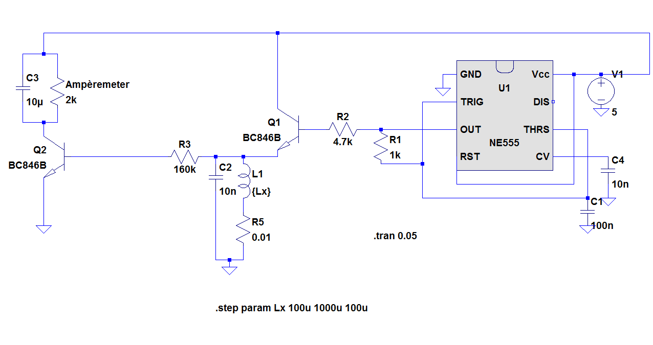 Simple Inductance Meter Circuit Diagram And Measuringandtestcircuit Seekiccom Inductivity Using Ic 555 Microcontroller Project