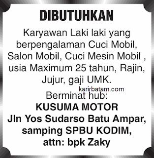 Lowongan Kerja Kusuma Motor Indonesia
