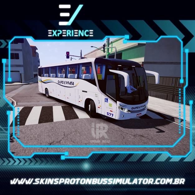 Skins Proton Bus Simulator Road - Comil Invictus MB O-500 RS Viação Ouro e Prata