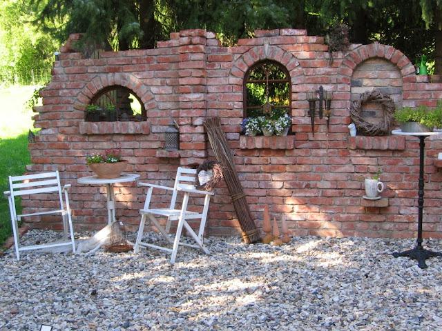Ruinenmauer als Windschutz
