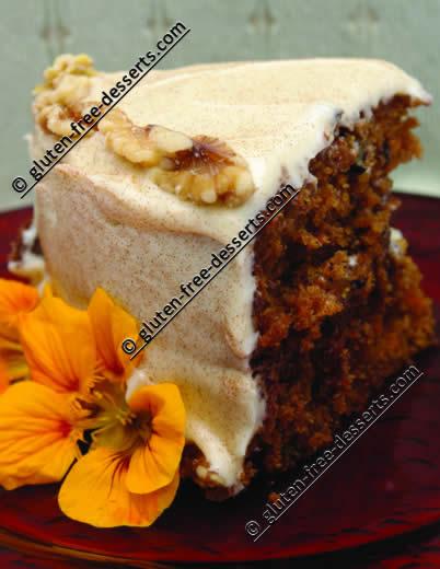 gluten-free carrot cake - prize winner