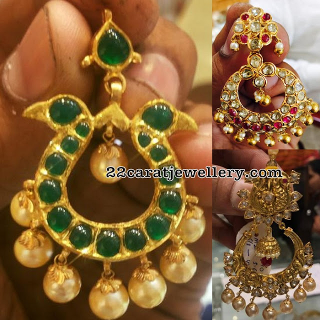 Gemstone Large Chandbalis