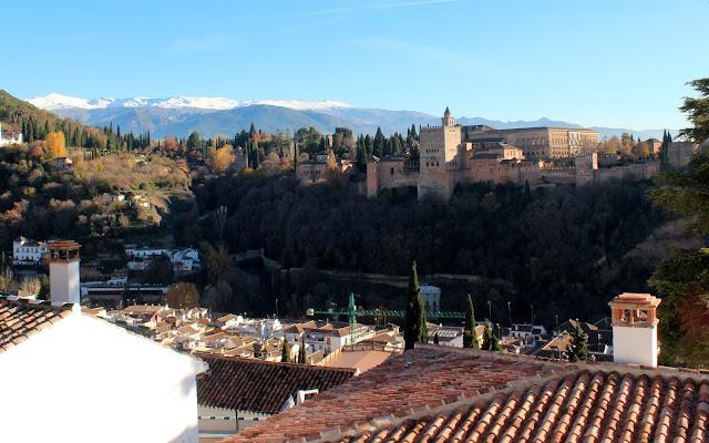 Vistas desde el mirador de San Nicolás en Granada