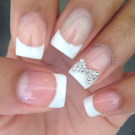 gorgeous formal nails with french