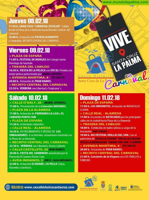 Programa Vive Santa Cruz de La Palma Carnaval Indianos 2018